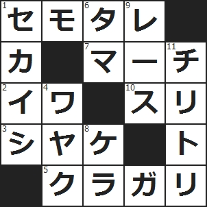 クロスワード (1)スツールにはない部分