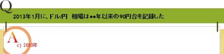 2013年1月に、ドル/円 相場は●●年以来の90円台を記録した
